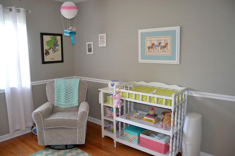 Amazing Chair Rail Nursery Part - 8: Nursery Retro Girly Creative